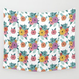 Gouache floral Wall Tapestry