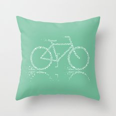 Treebike Throw Pillow