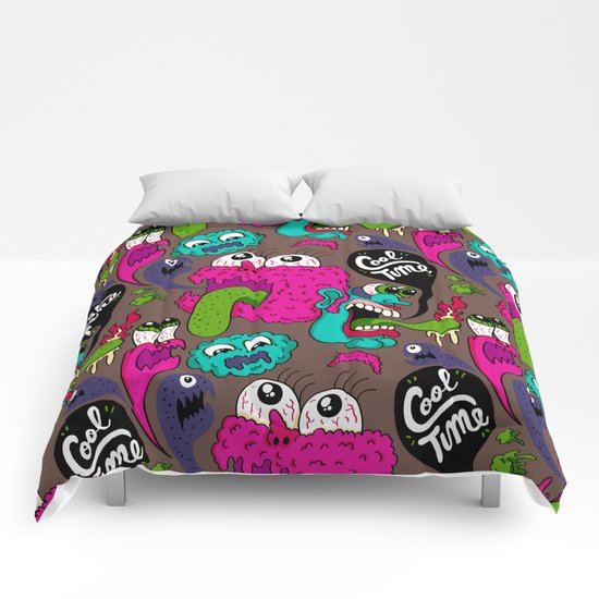 Cool Time Pattern Comforters