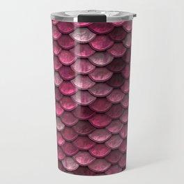 Pink Metallic Scales Texture Travel Mug