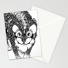 Black Cheetah Stationery Cards