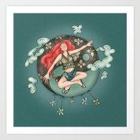 ying yang Art Prints featuring Ying Yang by Catru