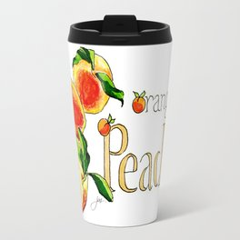 O is for Orangey and P is for Peaches Travel Mug