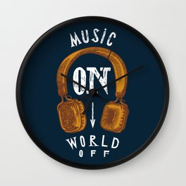 Music On - World Off Wall Clock