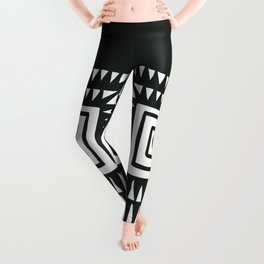 Tribal Print B&W- 02 Leggings