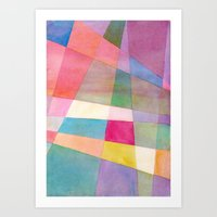 grid Art Prints featuring Grid by Dreamy Me