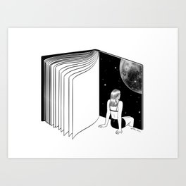 Reading is Dreaming with Your Eyes Open Art Print