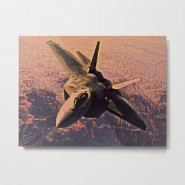 Jet Brown Ground Ultrasonic Aileron Stealth Operation Fast Metal Print