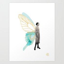 Roaring Butterfly Ange Art Print