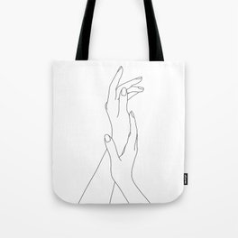 Hands line drawing illustration - Dia Tote Bag