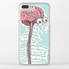 don´t be superficial, look inside me Clear iPhone Case