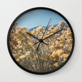 California Yellow Flowers Wall Clock