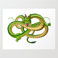 dragon ball Art Prints featuring Shenron Dragon ball by OverClocked