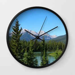 Along The Bow Valley Parkway Wall Clock