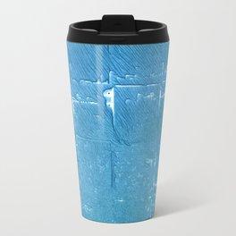 Carolina blue abstract watercolor Travel Mug
