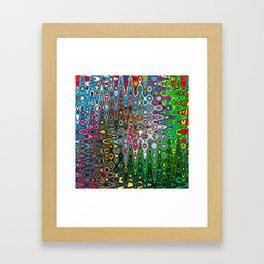 Vibrant Hippie Wiggly Pattern Framed Art Print