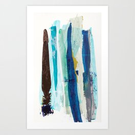 Forlorn Blue Abstract Art Print