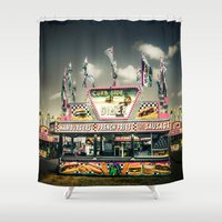 junk food Shower Curtains featuring Fair Food  by Forand Photography