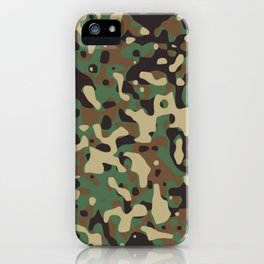 Military camouflage pattern iPhone Case