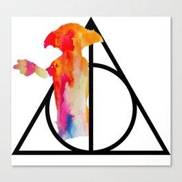 Dobby and the Deathly Hallows Canvas Print