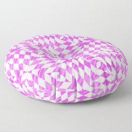 Pink And WHite abstract pattern Floor Pillow