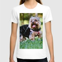 yorkie T-shirts featuring Darling Yorkie by IowaShots