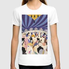 Dancing couples in jazz age nightclub T-shirt