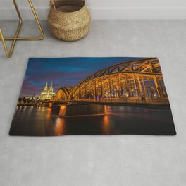 Hohenzollern Bridge in Cologne Germany Rug