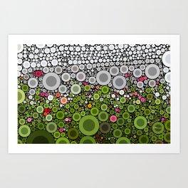 FLORAL DOTS Art Print