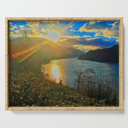 Columbia River Gorge, Sunset Serving Tray