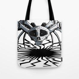 Skull Spider Tote Bag
