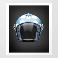 Motorcycle Helmet Art Print
