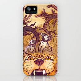 Lion & the Lambs iPhone Case