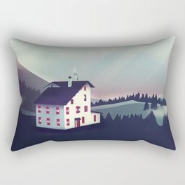Castle in the Mountains Rectangular Pillow