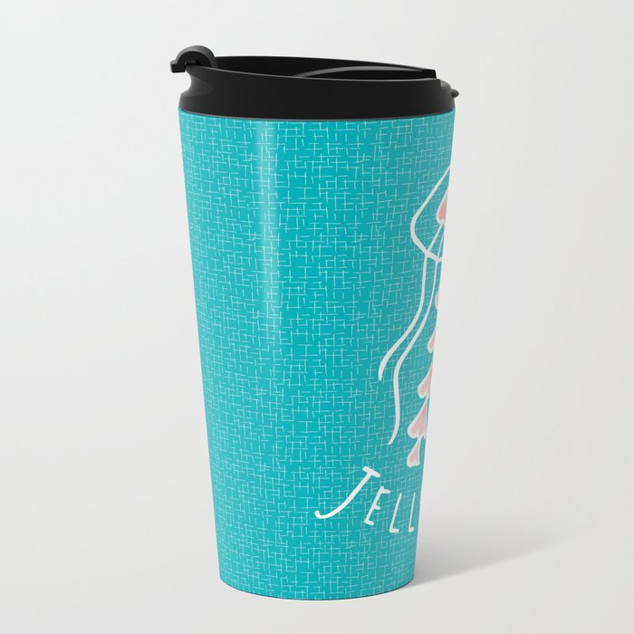 Jellyfish Metal Travel Mug