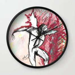 A Demon Dances Wall Clock