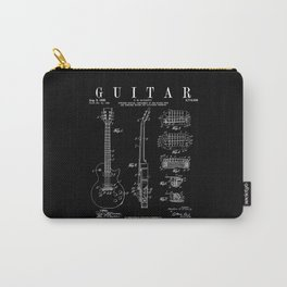 Electric Guitar Vintage Patent Guitarist Drawing Print Carry-All Pouch