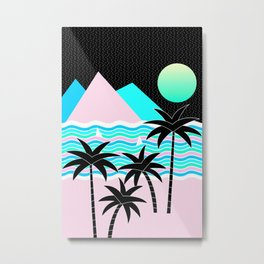 Hello Islands - Starry Waves Metal Print