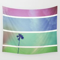 palm tree Wall Tapestries featuring Palm Tree by Whitney Retter