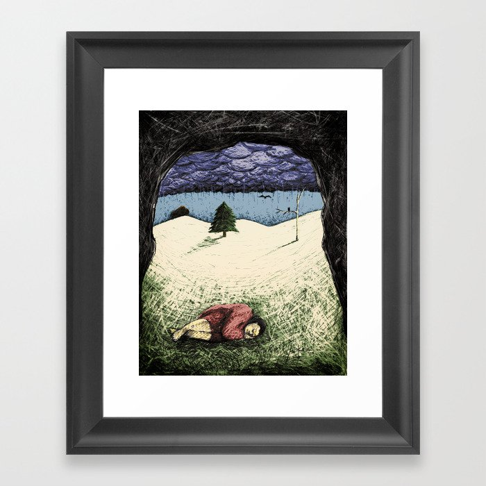 "Meet Cave - From ""Helpers"" Framed Art Print"