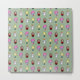 Animal Crossing Design 6 Metal Print