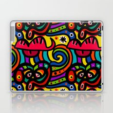Unusual Colorful Shapes with Eyes Laptop & iPad Skin
