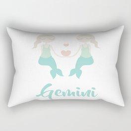 Gemini May 21 - June 20 - Air sign - Zodiac symbols Rectangular Pillow