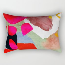 phantasy in red abstract Rectangular Pillow