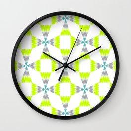 Accordian Summer Geo Wall Clock