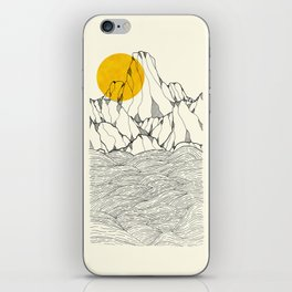 Sun and sea cliffs iPhone Skin