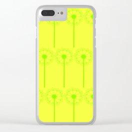Neon Dandelions Clear iPhone Case