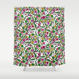 Cute Chintz Floral Pattern Shower Curtain