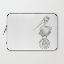 Holding on - The Dalmatian Pelican Laptop Sleeve