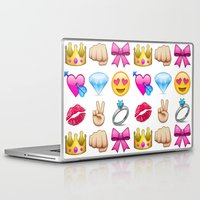 emoji Laptop & iPad Skins featuring Girly Emoji Compilation  by FaniS